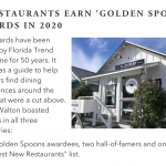 Five South Walton Restaurants Earn coveted 'Golden Spoon' Awards in 2020